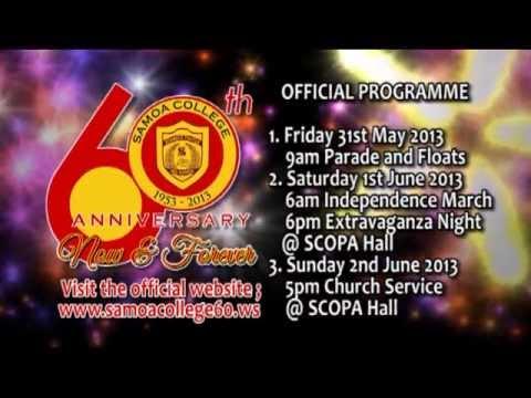 PROGRAM for Samoa College 60th Anniversary