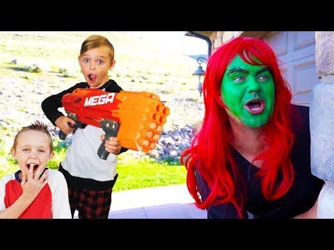 Babysitter Showdown with SuperHero Kids!