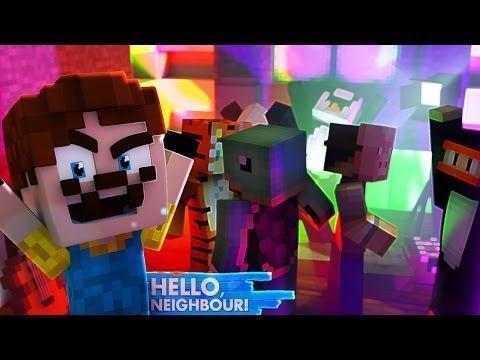 Minecraft Baby Hello Neighbour - CRASHING THE NEIGHBOURS PARTY!