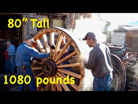1,080 lb Wood Wheels; Borax Wagons | Massive Wheelwright Work