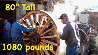 1,080 lb wood wheels; Borax wagons