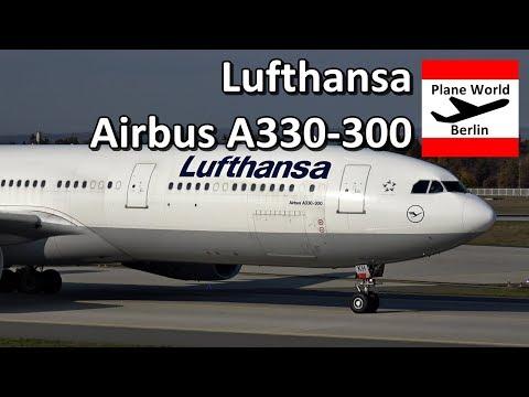Lufthansa Airbus A330-300 landing at Frankfurt Airport