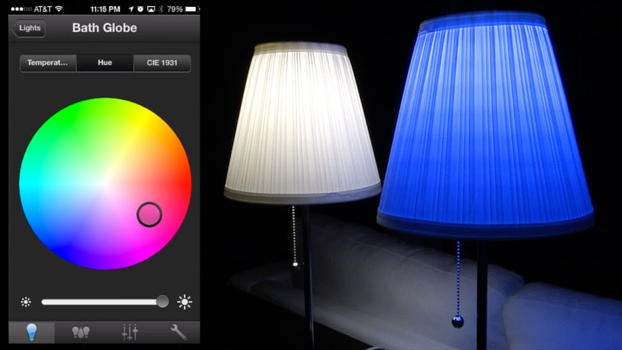 philips hue led full review and color changing app demos youtube. Black Bedroom Furniture Sets. Home Design Ideas