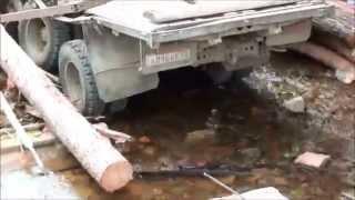 Отказали тормоза  Камаз лесовоз ушёл под откос 20 июля 2011 года