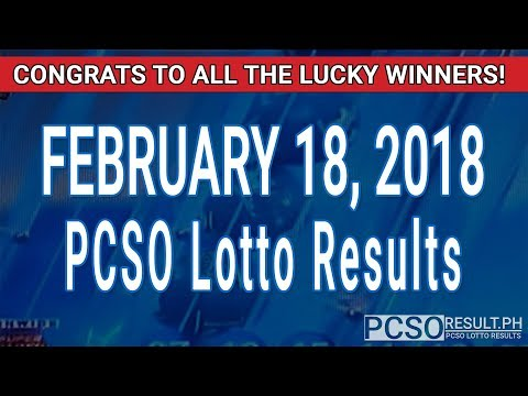 PCSO Lotto Results Today February 18, 2018 (6/58, 6/49, Swertres, STL & EZ2)