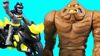 New Imaginext Batman & Batcycle Battles New Clayface + Web Slinger Spider-man ! Superhero Toys
