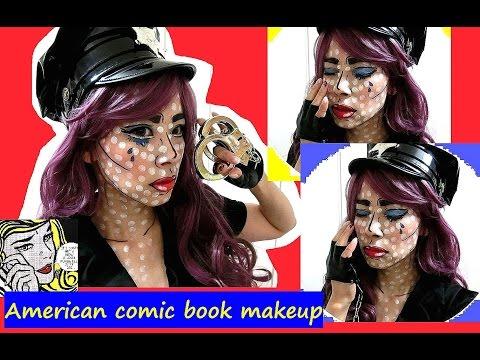 アメコミ風のハロウィンメイク★ポリス編 - Halloween × American comic book makeup -