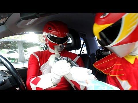 Superheroes McDonald Drive Thru
