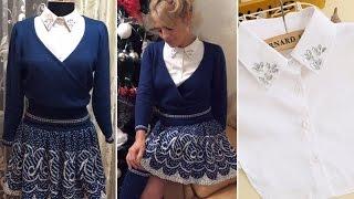 Вязание на машинке (knitting machine) Костюм юбка+кофта