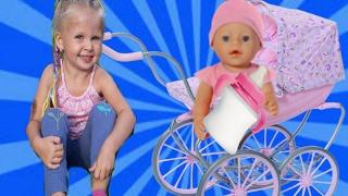 БЕБИ БОН на Прогулке.КАК МАМА. СБОРНИК.Играем в куклы Baby Born doll Видео для Детей про #бебибон