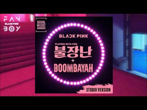 BLACKPINK - 불장난 (PLAYING WITH FIRE) + 붐바야 (BOOMBAYAH) (Seoul Music Awards -Studio Version)