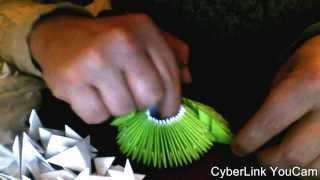 модульное оригами сборка вазы часть 1