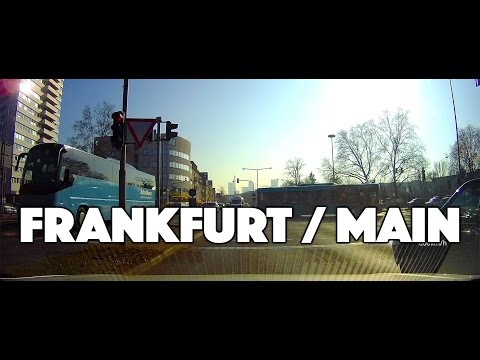 ROAD TRIP: driving through Frankfurt am Main, Eschborn and Offenbach / Gemany in February 2017