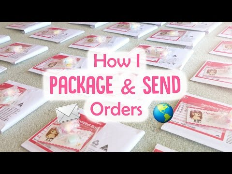 How I Package & Send My Shop Orders (Polymer Clay Charms)