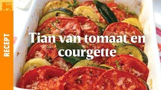 Tian van tomaat en courgette