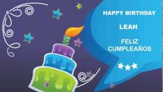 Leah - Card Tarjeta - Happy Birthday