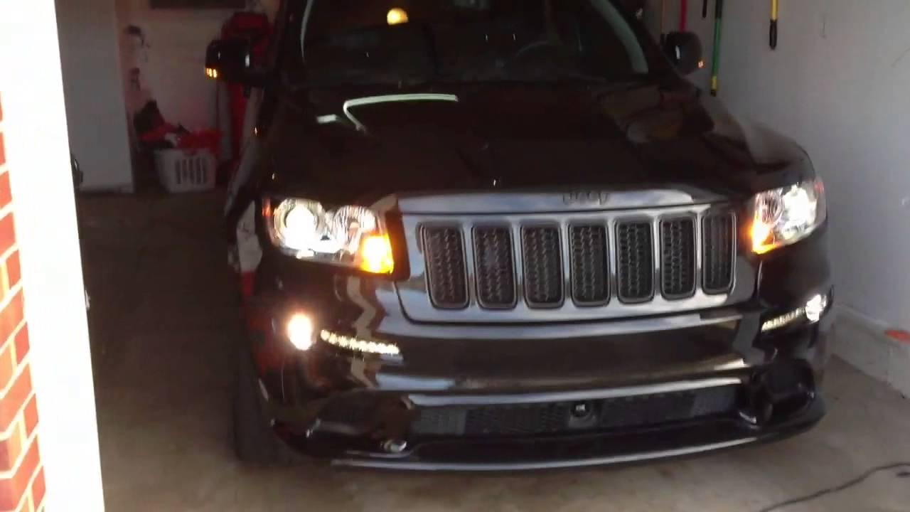2012 jeep grand cherokee srt8 front turn signal demo [ 1280 x 720 Pixel ]