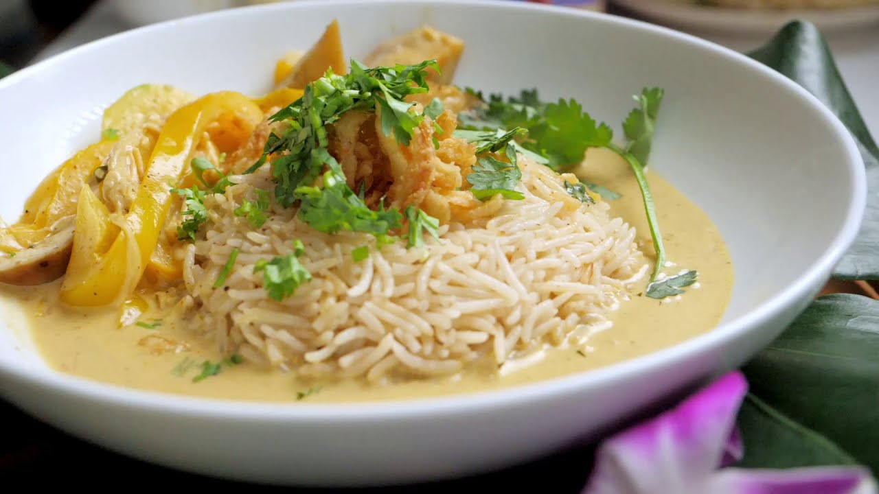 Thai Red Curry Recipe in slow motion