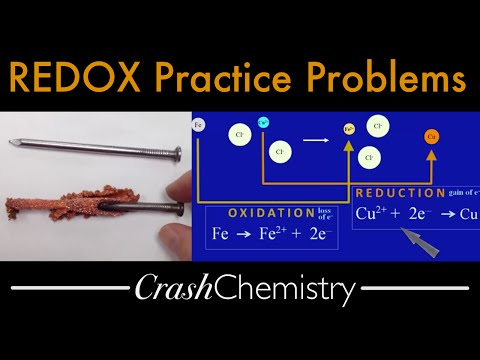 REDOX Practice Problems — terminology; determination of ox-red, half reactions, oxidizer, reducer