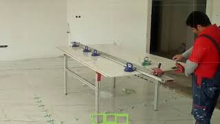 How to cut 3 meter slab tile with Large format tile cutter