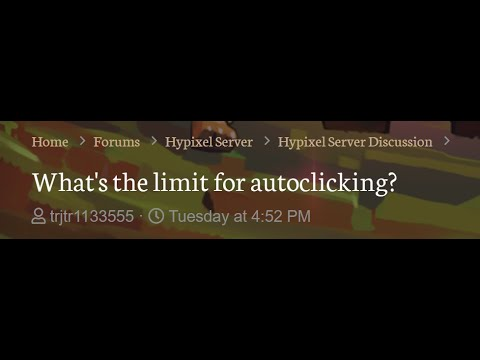 What CPS Does Hypixel Ban For?