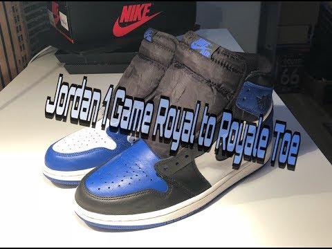 eaa38dcb2 air jordan 1 black toe laser 1 custom time lapse re upload