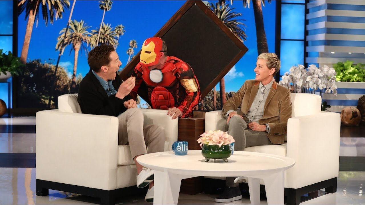 Watch Benedict Cumberbatch almost pee his pants because of a