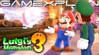 Polterpup Steals Mario's Cake! Checking into Luigi's Mansion 3 Hotel (Lobby Gameplay)