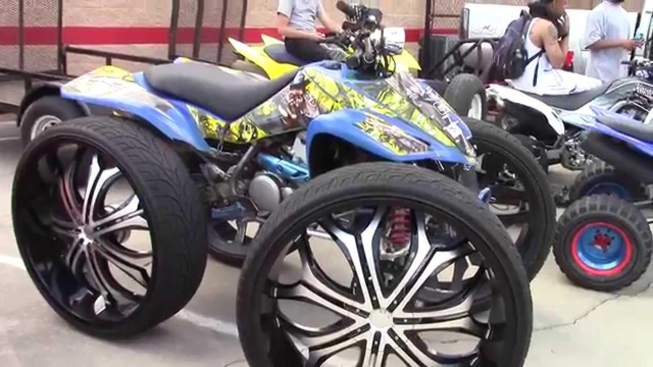 Atv On Huge Wheels And More At Stuntfest 2k15 Youtube