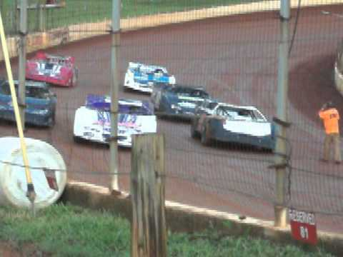 A hobby Heat Race at North Georgia Speedway 7/11/15 Ralph Langston #14
