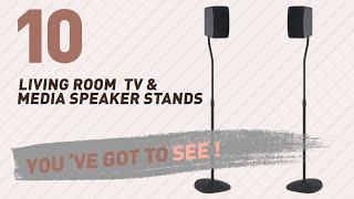 Top 10 Living Room Tv & Media Speaker Stands // New & Popular 2017