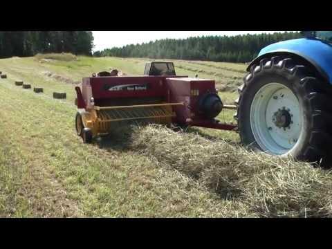 Baling Hay In Sweden 2013