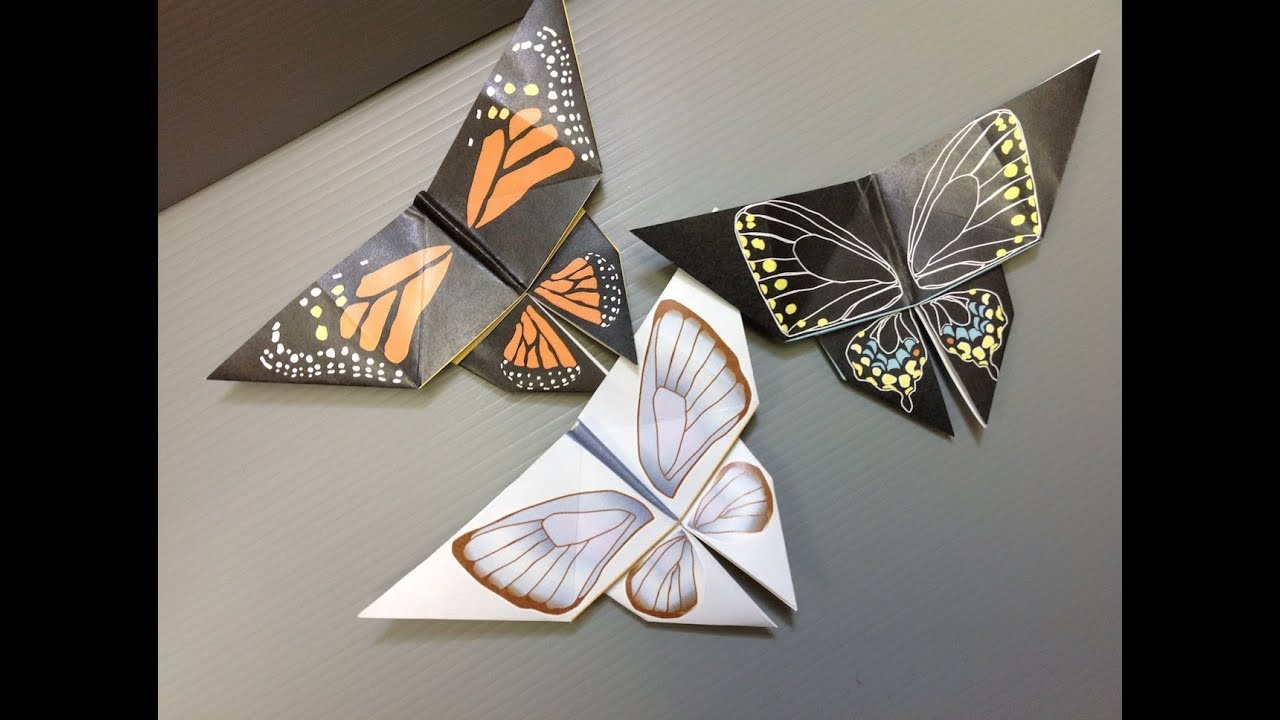 free origami butterfly paper print your own real butterflies