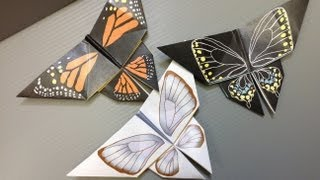 Free Origami Butterfly Paper - Print Your Own! - Real Butterflies