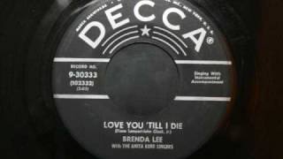Brenda Lee - Love u till i die YouTube Videos