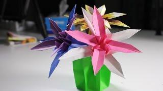 Origami Flower Cactus