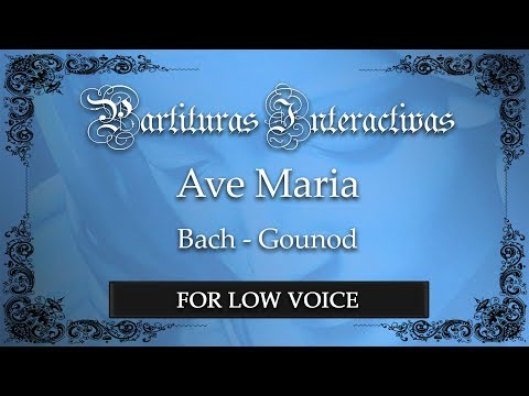 Ave Maria - Bach/Gounod (Karaoke - Key: C major)