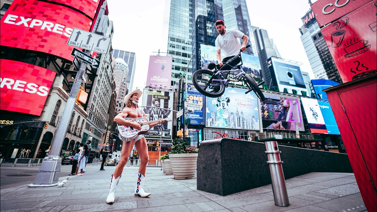 Riding BMX in Times Square (NYC)