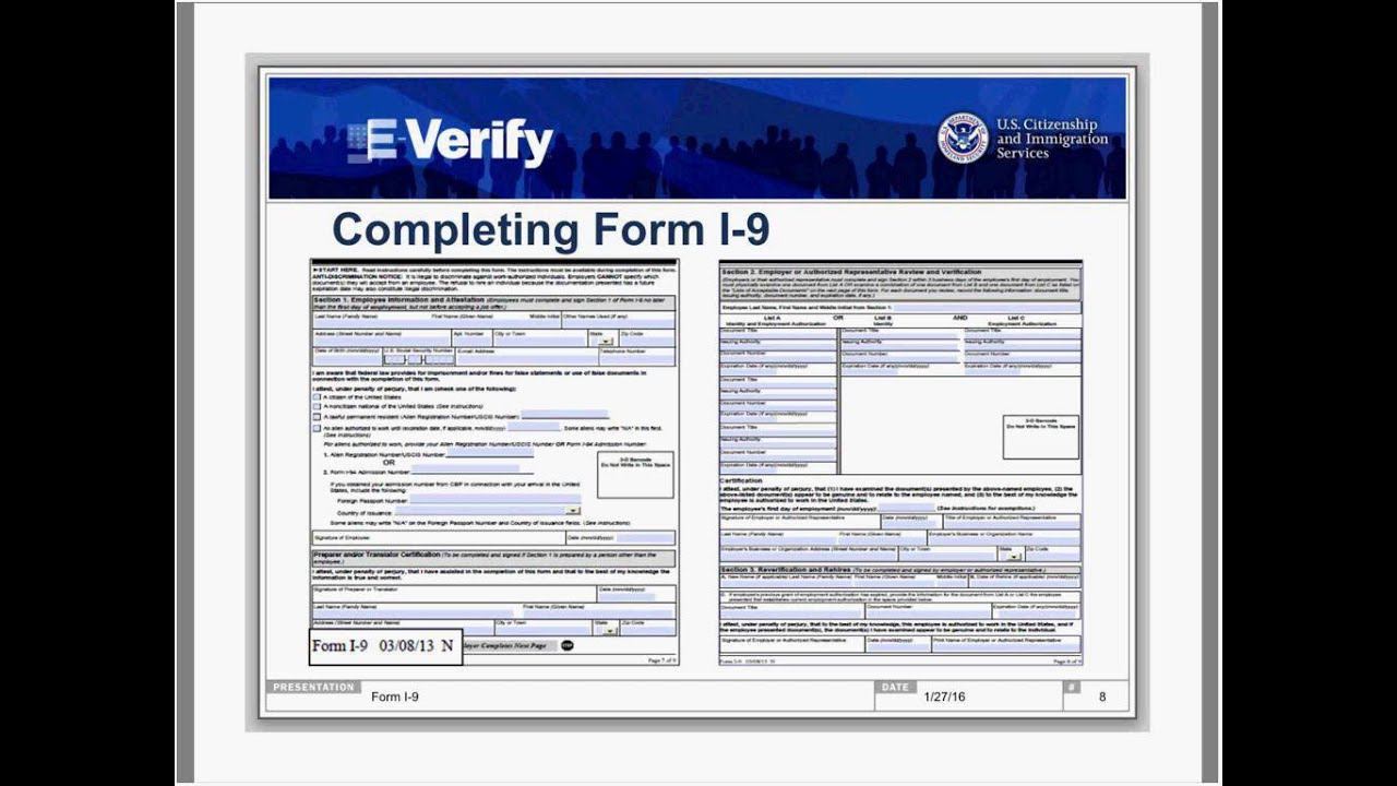 20160127 The Real Deal on Form I 9 - YouTube