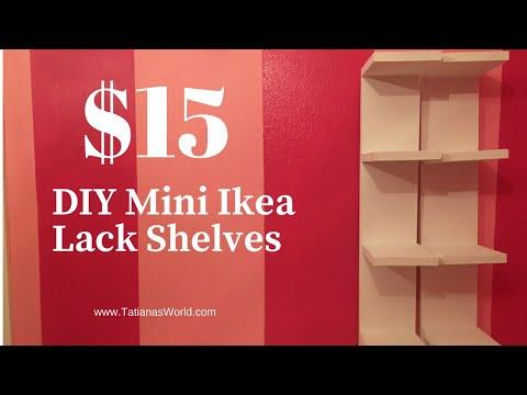 DIY Mini IKEA Lack Shelves For Only $15