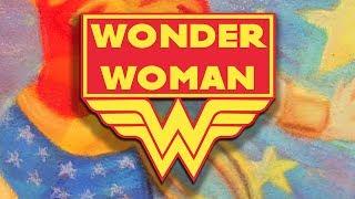 WONDER WOMAN | Chalk Drawing | Art For Kids | Family Friendly | WigglePop