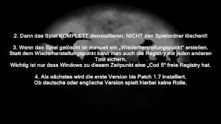 Call of Duty 5 DEUTSCH UND ENGLISCH auf ein PC installieren