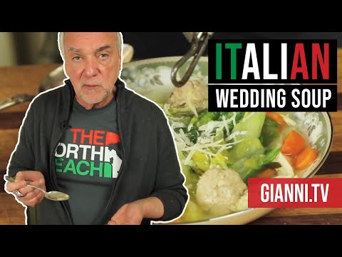 Italian Wedding Soup: Chicken, Escarole and Veal Meatballs, Italian Recipe - Gianni's North Beach