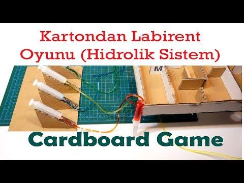 Kartondan Hidrolik Sistem Labirent Oyunu