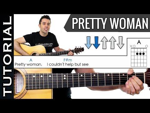 Como Tocar Pretty Woman en guitarra fácil melodía y acordes tutorial y clase