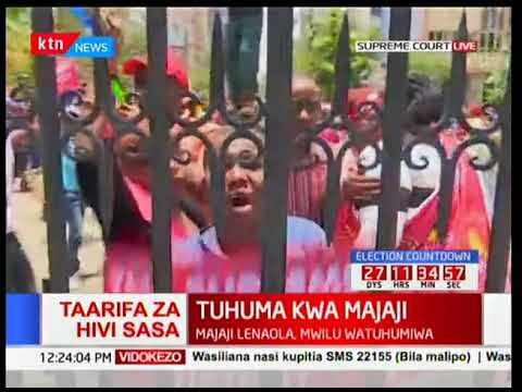 Jubilee supporters demonstrate, say no elections, Uhuru for President