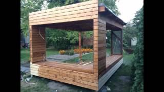 Nowoczesna wiata, altana ogrodowa - zrób to sam - budowa - modern bower garden