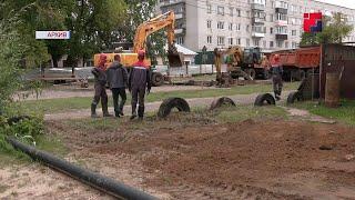 Самотечный коллектор и новый пристрой к школе в Волжске будут сданы уже к середине октября