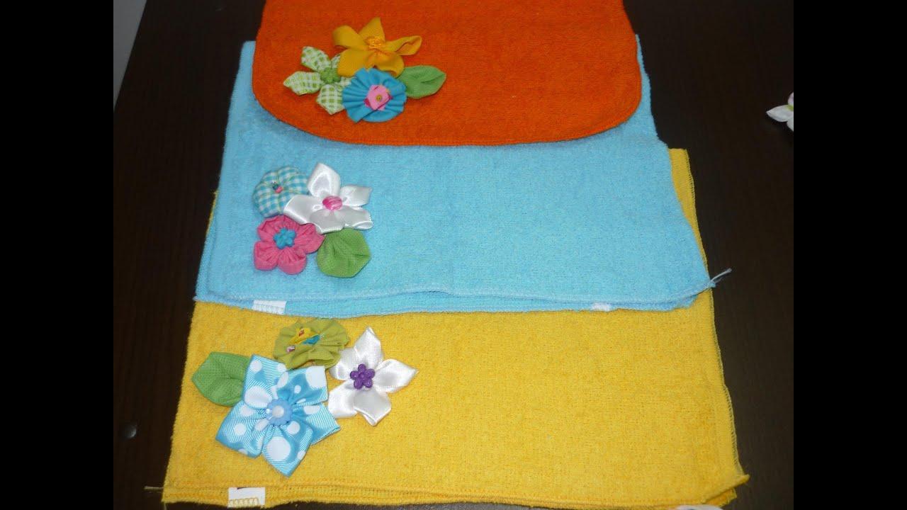 Diy flores de tela y cinta para decorar manualidades - Hacer manualidades para decorar ...