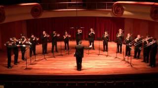 Columbus State University Trombone Choir, Hassler - Verbum caro factum est